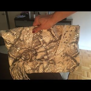Gorgeous never used snakeskin clutch